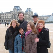In front of the Louvre in Paris 2006
